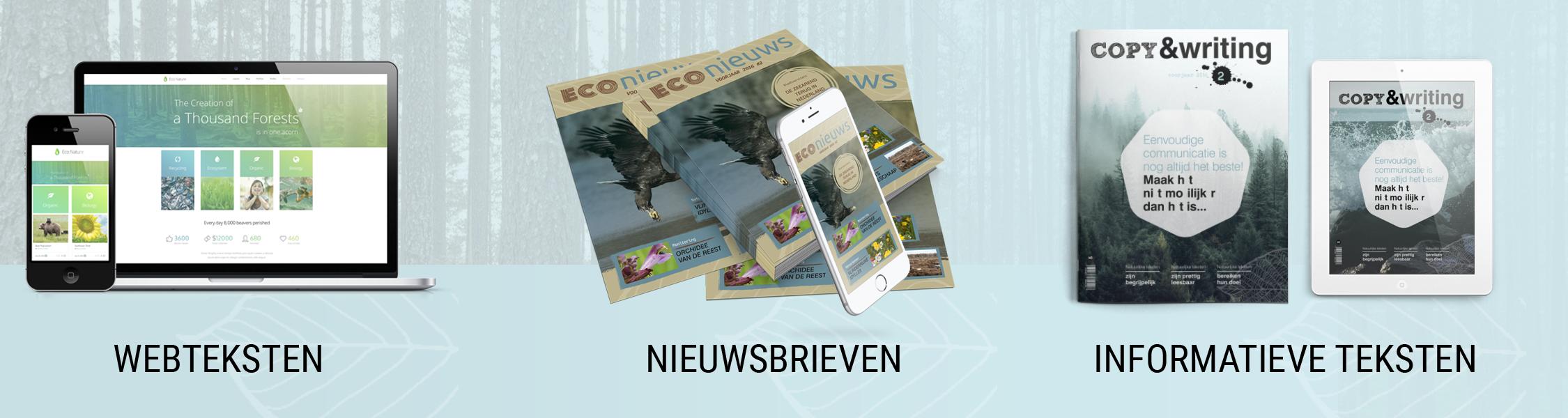 buro Boer verzorgt teksten voor websites, nieuwsbrieven en schrijft andere informatieve teksten